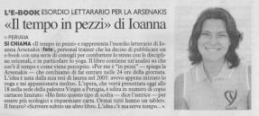 """La Nazione, dalla rubrica """"L'e-book"""" di Cristina Belvedere."""